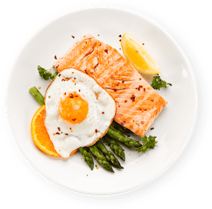 Plate with Salmon